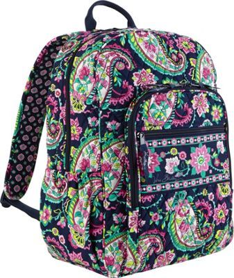 248e66ce0bb2 Vera Bradley Campus Backpack Petal Paisley - via eBags.com!