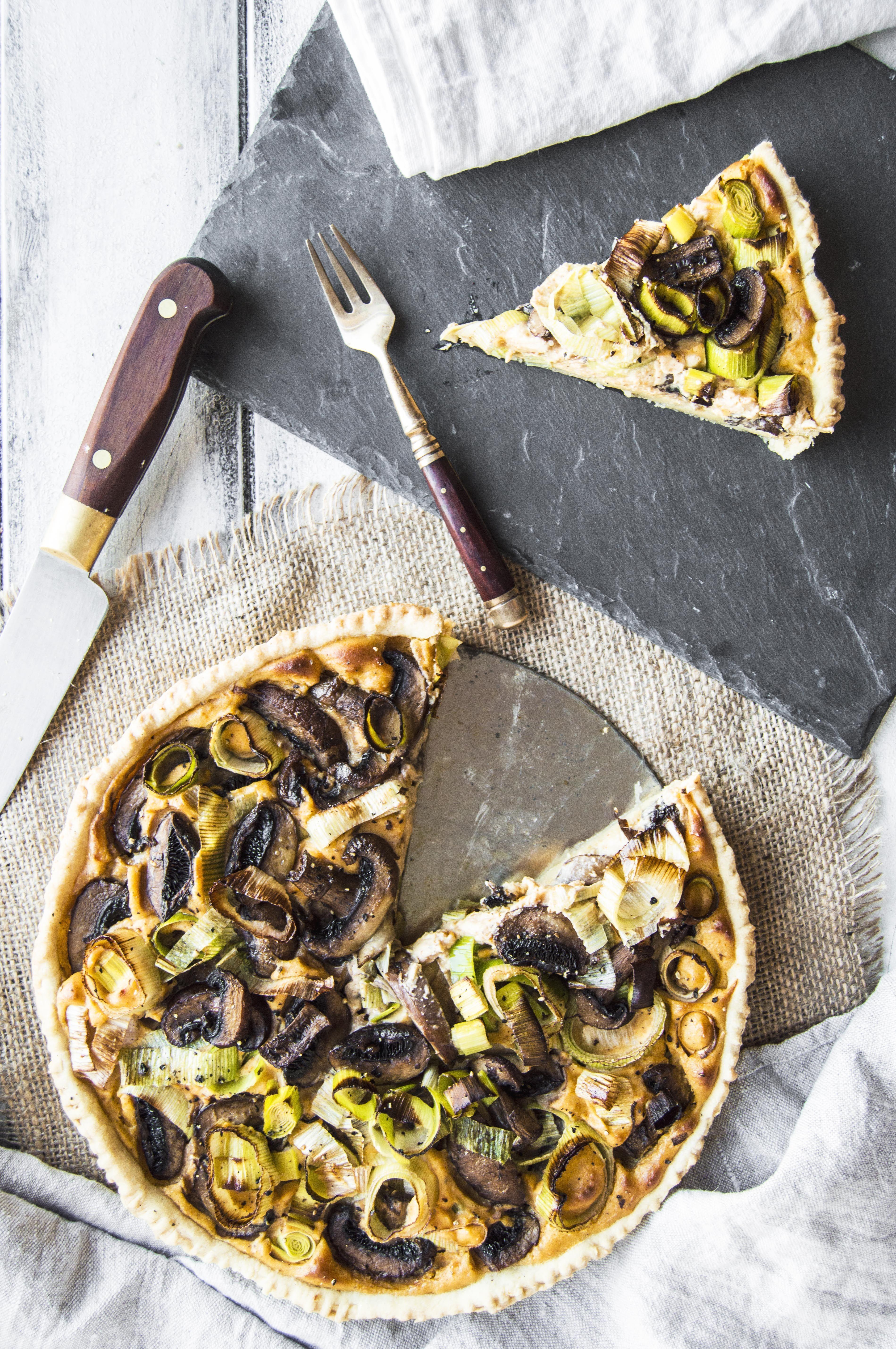 My Vibrant Kitchen | Vegan Mushroom Leek and Sweet Potato Tart | http://myvibrantkitchen.com