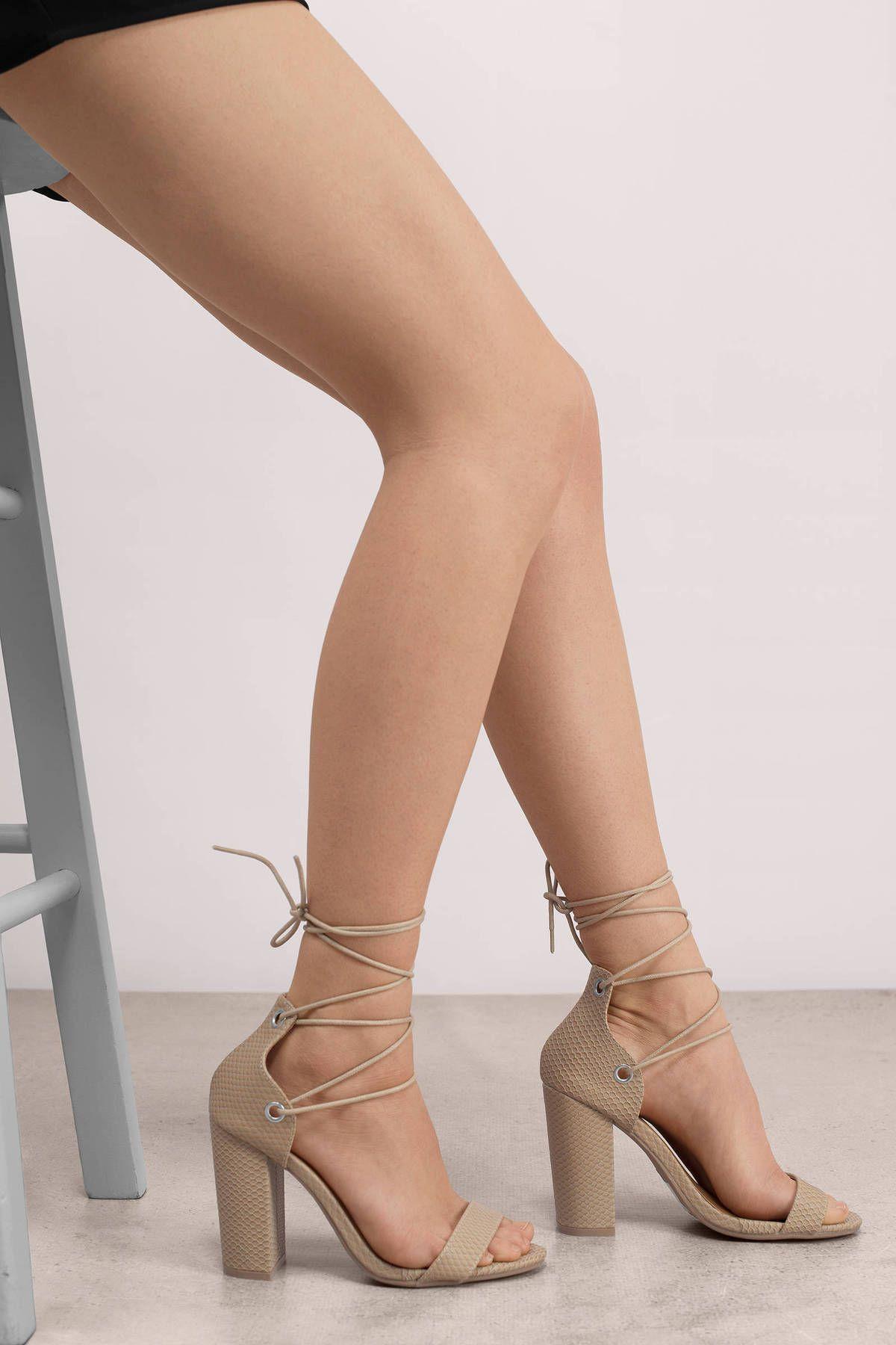 on Jill heels nude