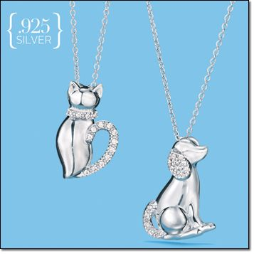 Sterling Silver Animal Lovers Necklace. New in Campaign 21 at www.deannasbeautyshop.com #avon #necklace #dog #cat #animallover #silver #sterlingsilver