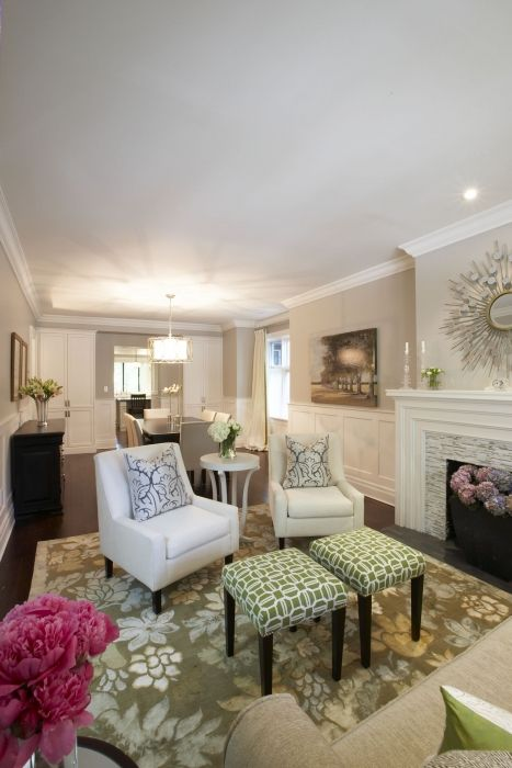 Small Great Room Designs: Great Way To Section A Long Living Room/dining Room In One