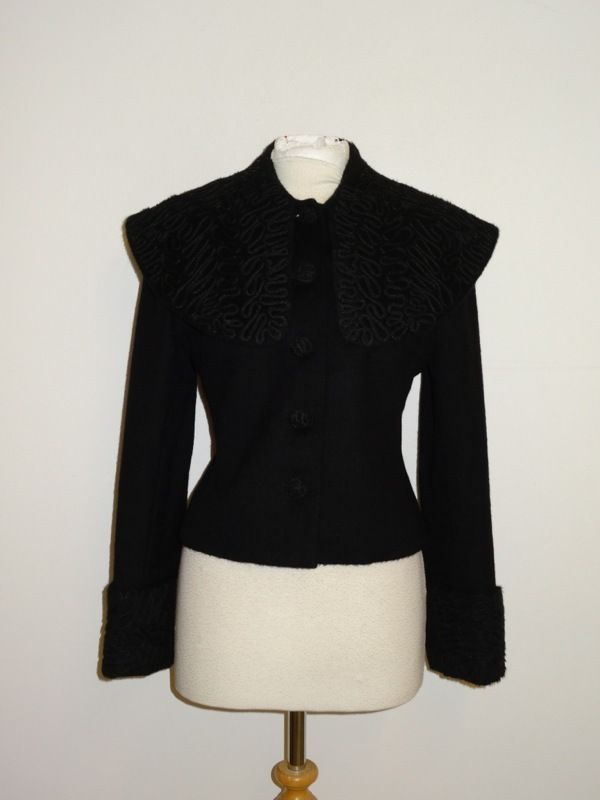 SPIRIT Of The ANDES - Ladies BLACK ALPACA & WOOL JACKET - Size 12 - STUNNING  £22.00 (13Bds)