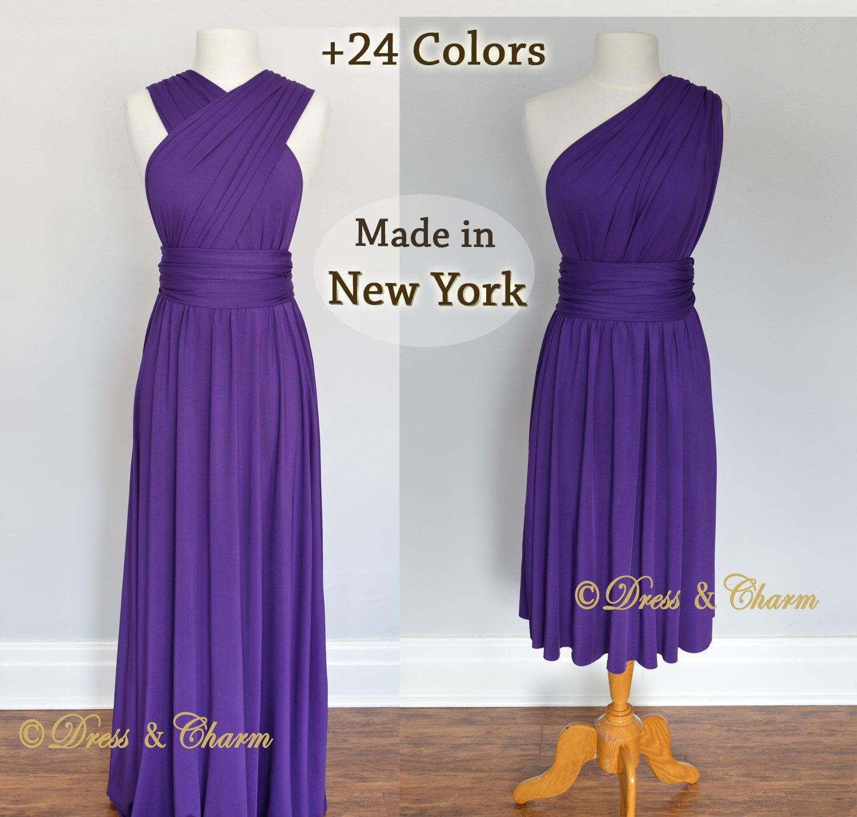 Purple Bridesmaid dress, party dress, convertible dresses, infinity ...