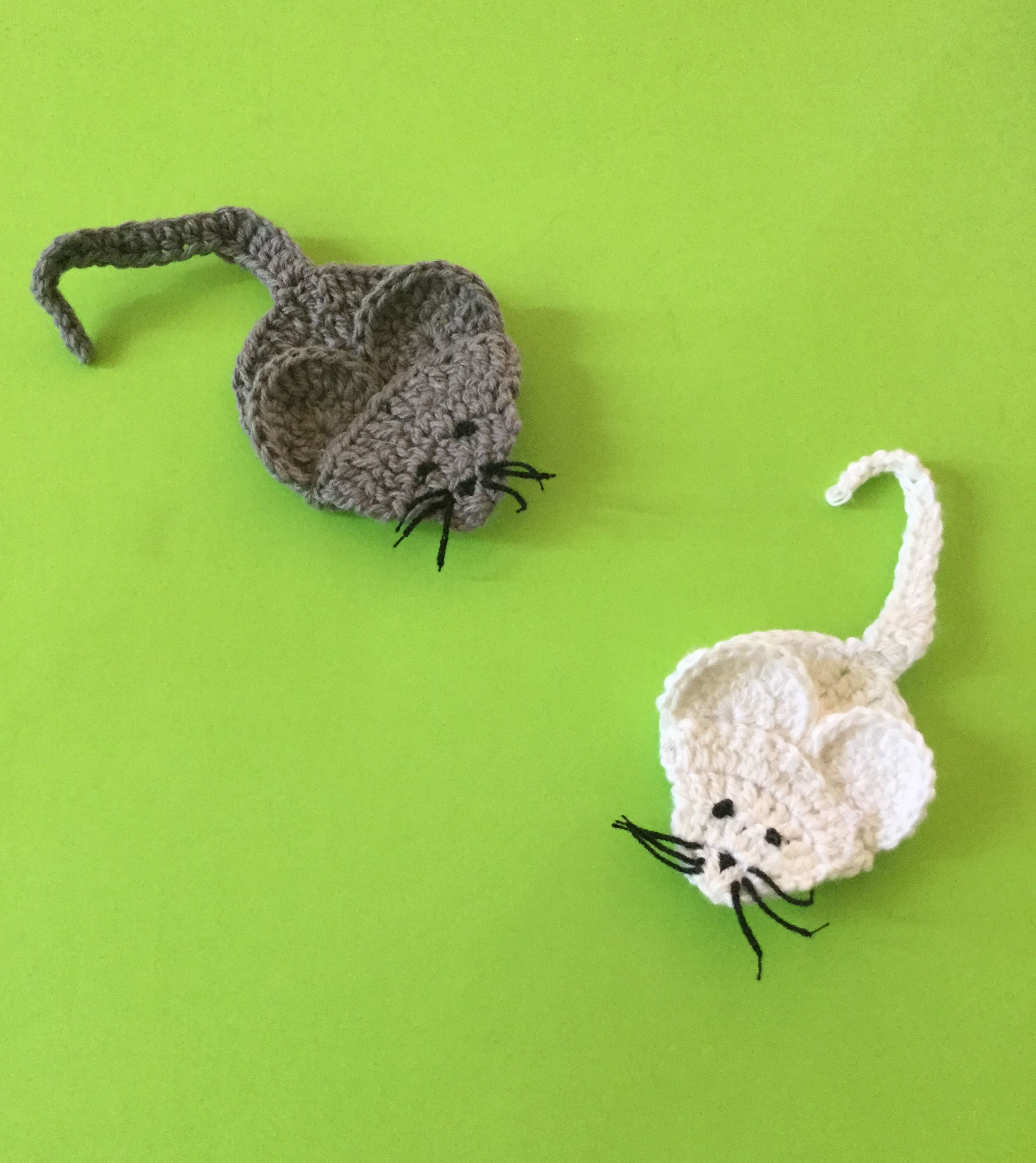 Free Crochet Mouse Applique Pattern With How To Video Tutorial