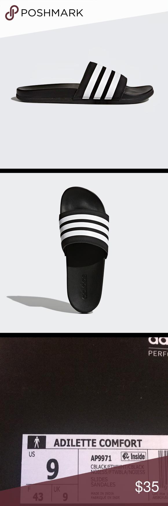 5116210b3 Adidas MEN S ESS ADILETTE CLOUDFOAM PLUS SLIDES MEN S ESSENTIALS ADILETTE  CLOUDFOAM PLUS STRIPES SLIDES adidas Shoes