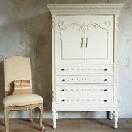Superieur One Of A Kind Vintage Armoire Distressed White From @laylagrayce  #laylagrayce #vintage #