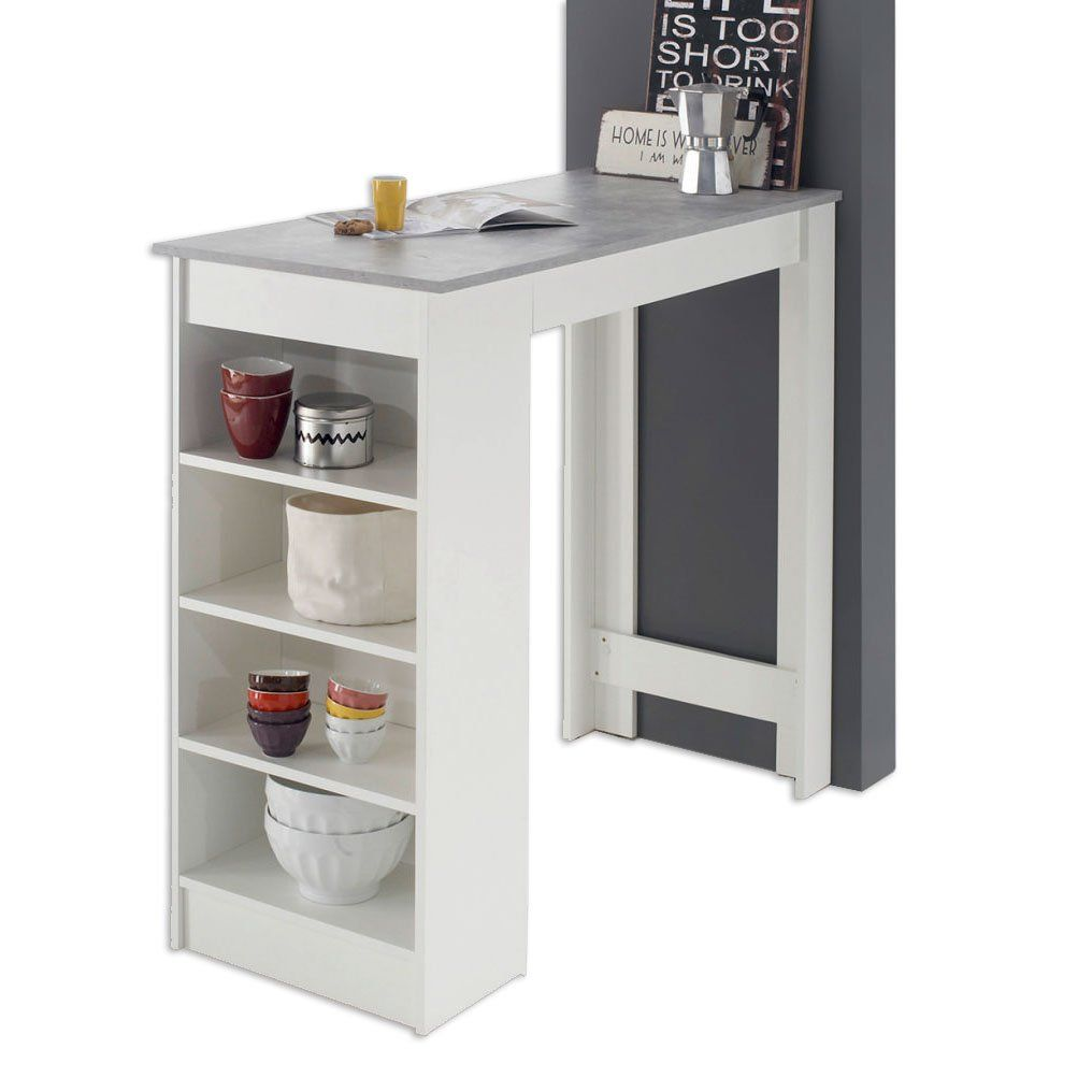 Bartisch Weiss 115 Cm Breit Online Bei Roller Kaufen Bartisch Minimalistische Kuche Schreibtisch Selber Bauen