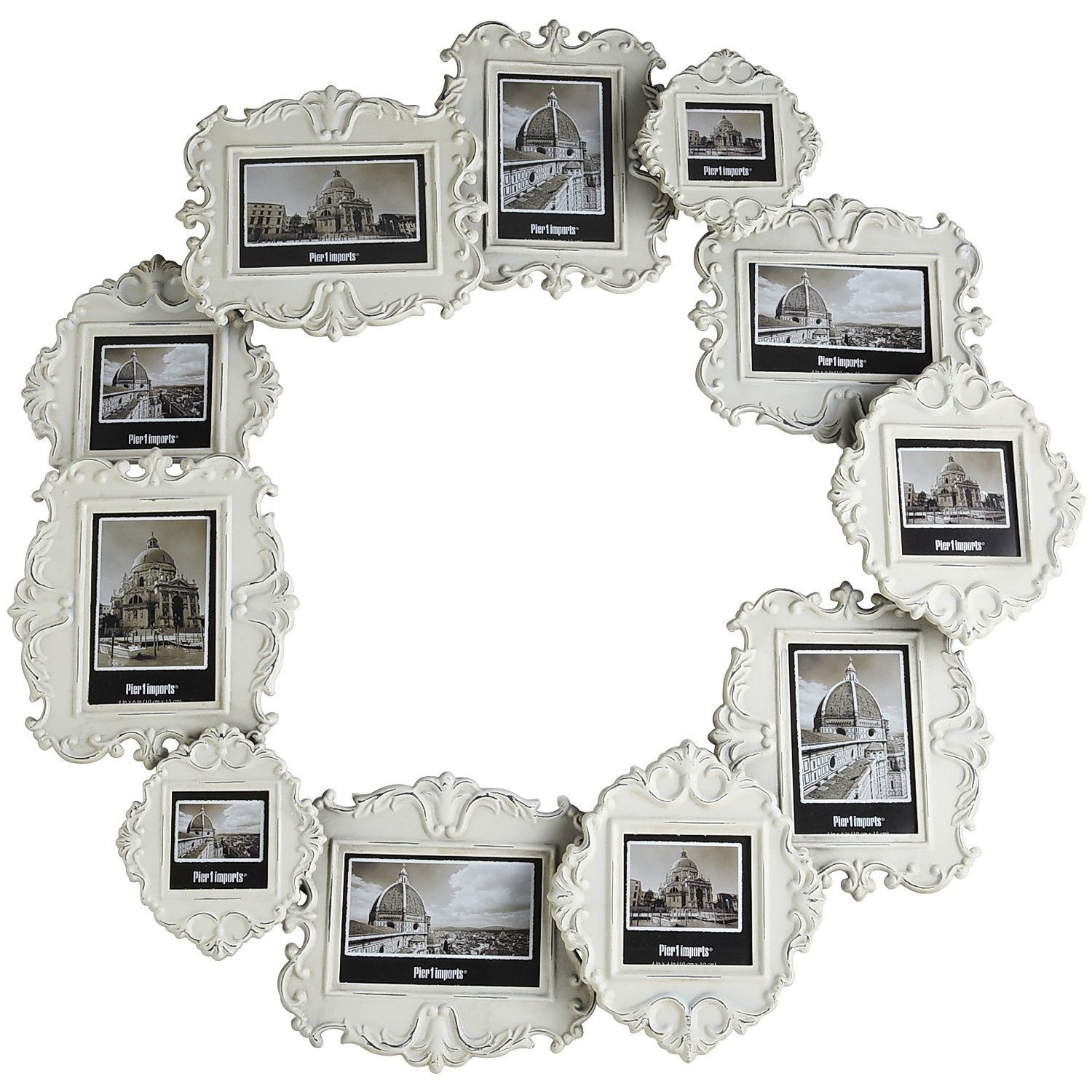 White Circle 11-Opening Wall Frame - Pier1 US | Pier 1 Perfection ...