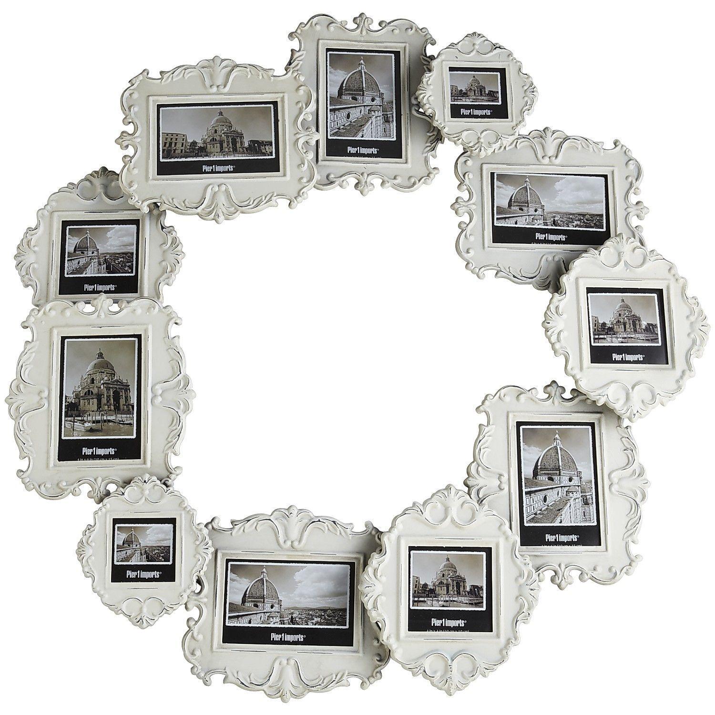 White Circle 11-Opening Wall Frame - Pier1 US | My Pier1 favorites ...