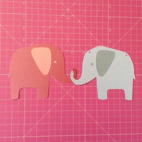 🐘💗🐘 Cute little elephants for a custom letter banner  #elephants #personalised #letterbanner