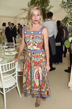 Sienna Miller in a dress by Dolce&Gabbana