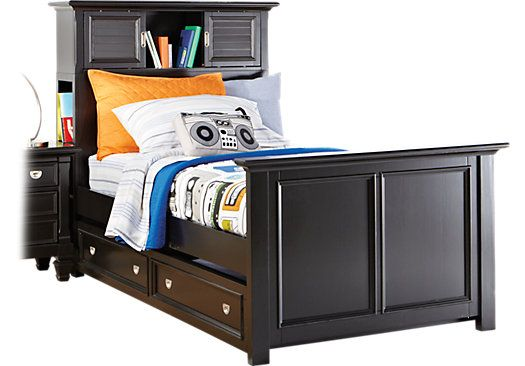Shop For A Belmar Black 4 Pc Twin Bookcase Bed W Trundle At Rooms