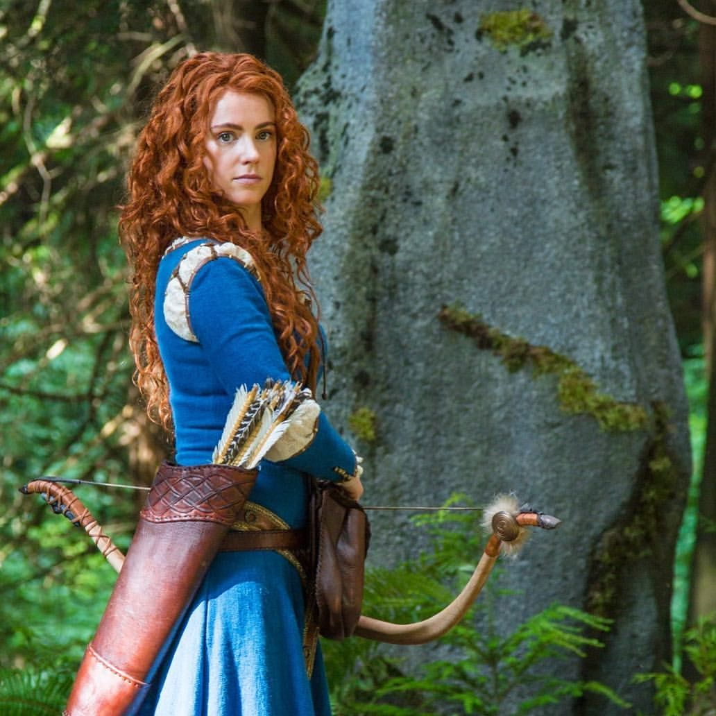 """Amy Manson Once Upon A Time craig clarke (@vfxsup) on instagram: """"#bts amy manson as"""
