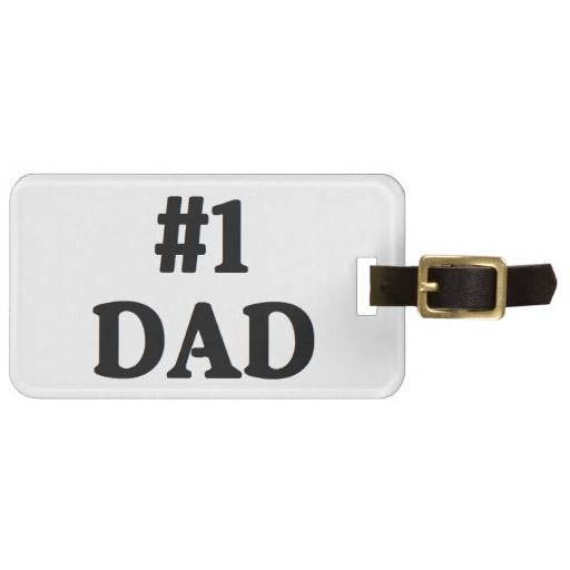 """""""#1 Dad"""" Luggage Tag makes a great gift! Great gift for Father's Day!"""