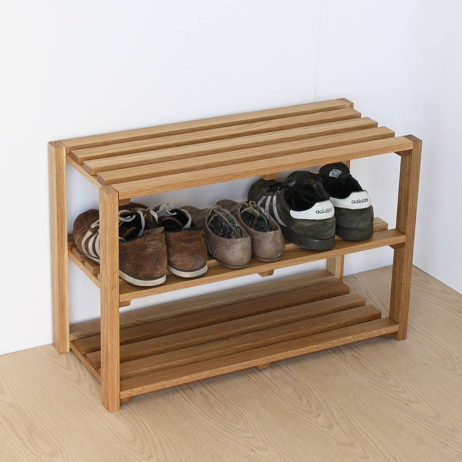 Oak Shoe Rack from notonthehighstreetcom Oak Shoe