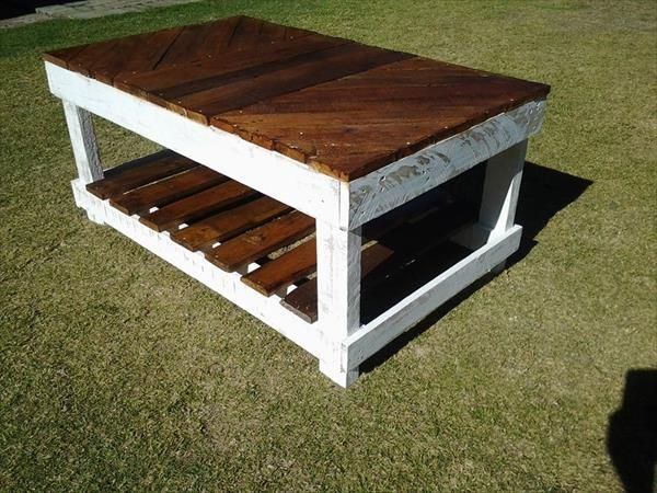 Diy Coffee Table Out Of Pallet Wood