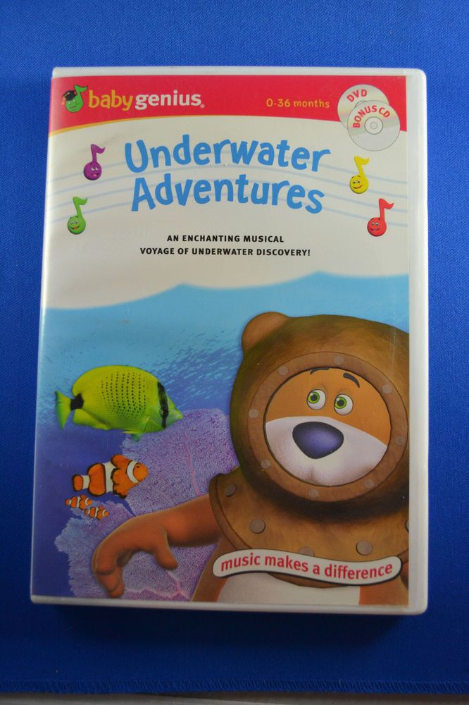 Baby Genius Underwater Adventures Favorite Nursery Rhymes 2 Dvds Free Shipping Babygenius