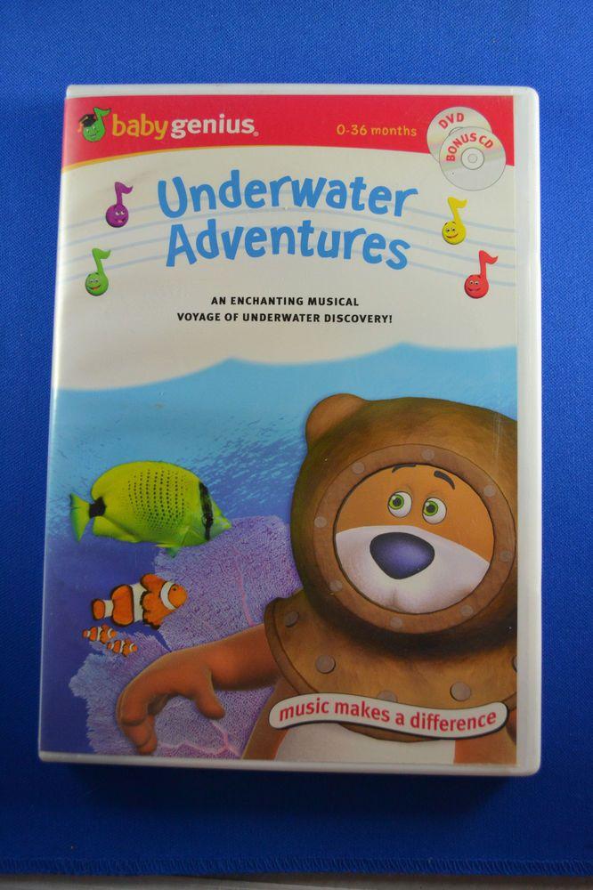 Baby Genius Underwater Adventures Favorite Nursery Rhymes 2 Dvds Free Shipping Babygenius