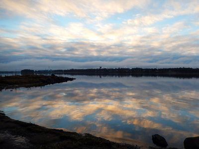 Cloudy heaven feflection on the lake, Tornio Finland