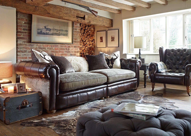 Alexander James Franklin Maxi Split Sofa This Sofa Looks Fantastic In A Large C Chesterfield Living Room Velvet Sofa Living Room Family Room Sofa