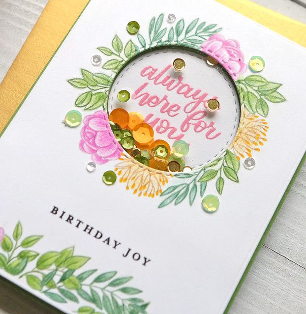 One Stamp, Five Ways - SSS June Card Kit Leafy Frames #cardkit