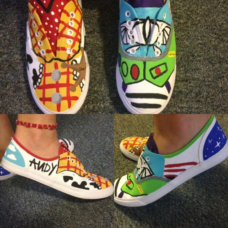 toy story diy canvas shoes Disney painted shoes, Disney