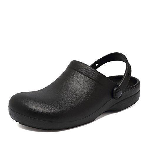 186456e3f3c Fanture Slip Resistant Chef Clog Mule Restaurant Non Slip Work Shoes Black  for Men Women.CAND32-BLACK.44