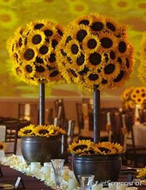 Wedding Topiary Ideas Part - 36: Sunflower Topiary Trees - Love This Idea Of Topiary But With Different  Flowers - Purples Etc