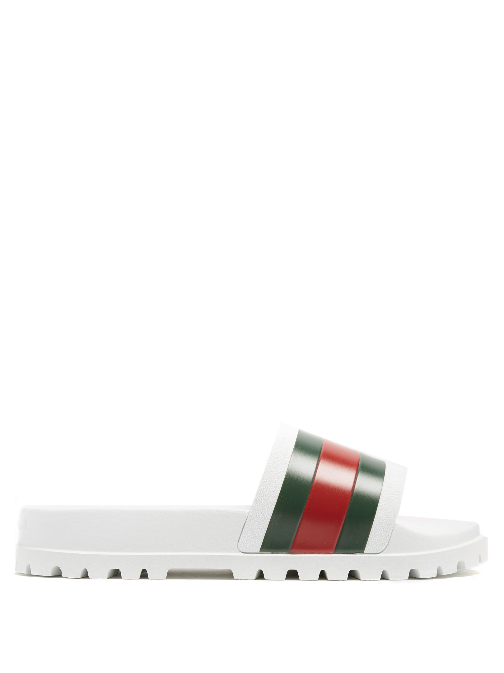 3d553af5dea7 GUCCI PURSUIT TRACK RUBBER POOL SLIDES.  gucci  shoes