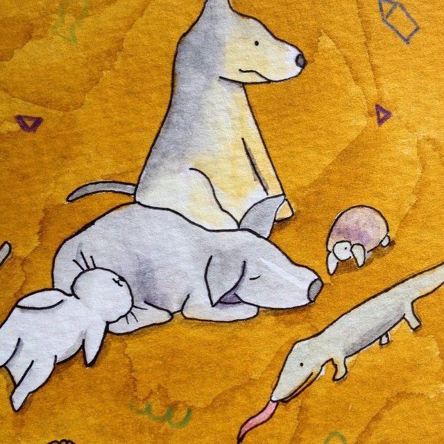 Bichinhos Little pets dwgdaily dwgdaily watercolor