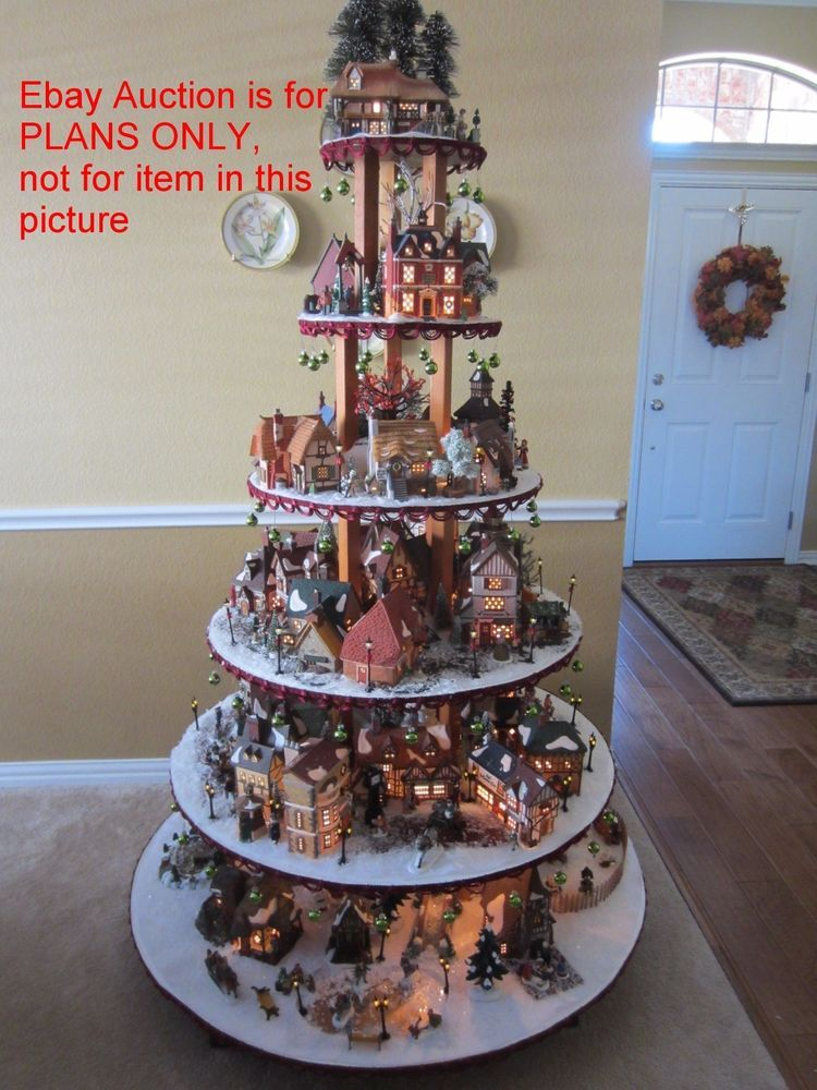 HOW TO BUILD Village House Display Stand Dept 56 Lemax Christmas