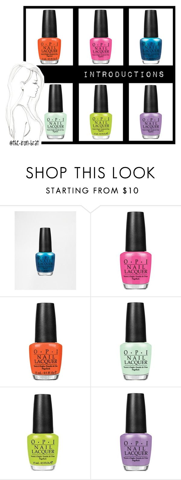 """""""O P I nail lacquer"""" by minavukovic ❤ liked on Polyvore featuring beauty, OPI and Monique Péan"""