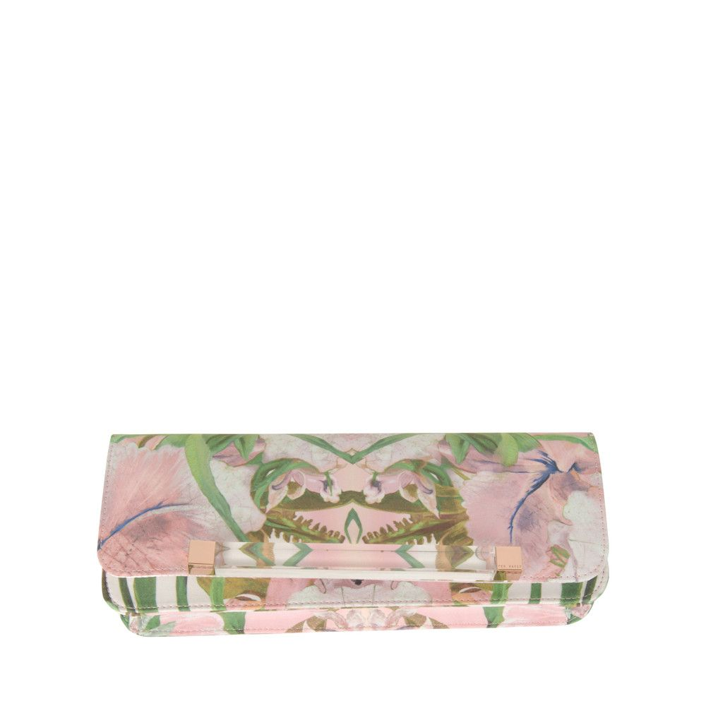 e6af7c3a04b TED BAKER Womens Multi Colour Jungle Orchid Print Clutch Bag £78.99 Ted  Baker Jungle Orchid