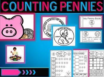 Geld, Pennys zählen, Geldaktivitäten, Münzen zählen, Penny Booklet