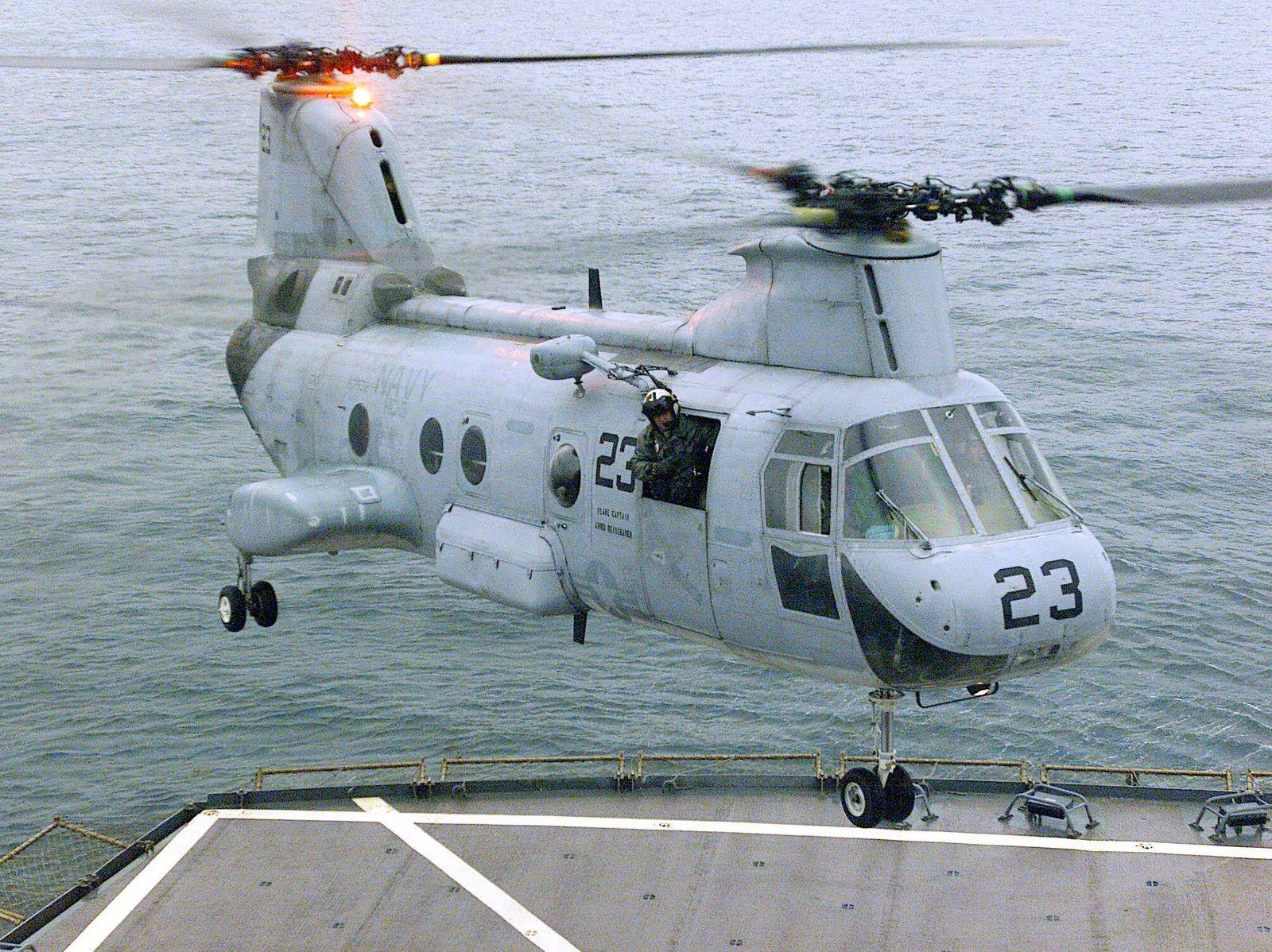CH-46 Sea Knight Landing