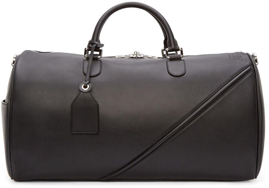 ea43f05c9ead Loewe - Black Leather Duffle 51 Bag