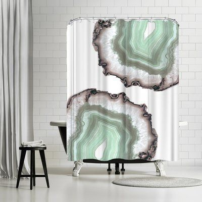 East Urban Home Emanuela Carratoni Fresh Water Agate Shower Curtain