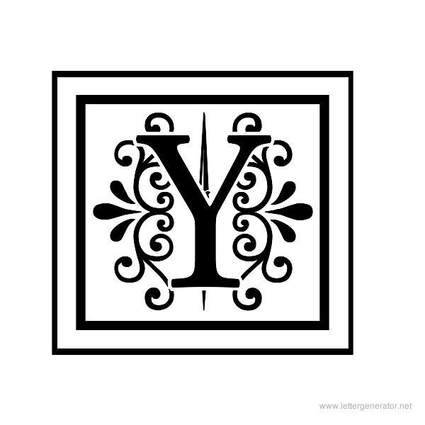 Apex Lake Printable Decorative Alphabet Letter Y Letter Stencils