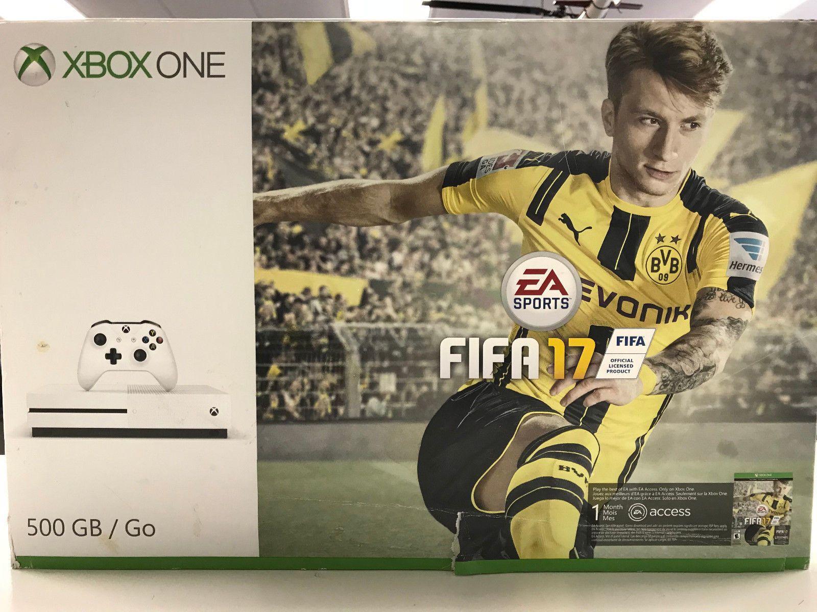 Microsoft Xbox One S Fifa 17 Bundle 500gb White Console Xbox One S Fifa 17 Fifa