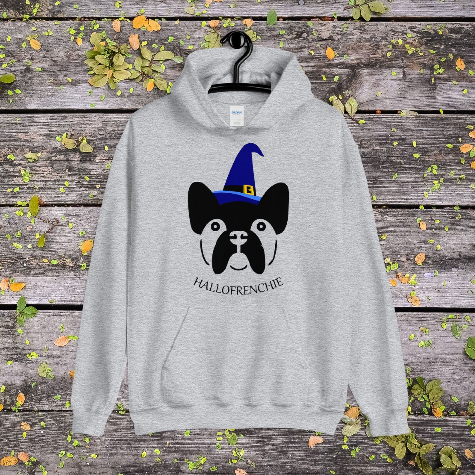 Halloween French Bulldog Hoodie, Frenchie Halloween Hoodie