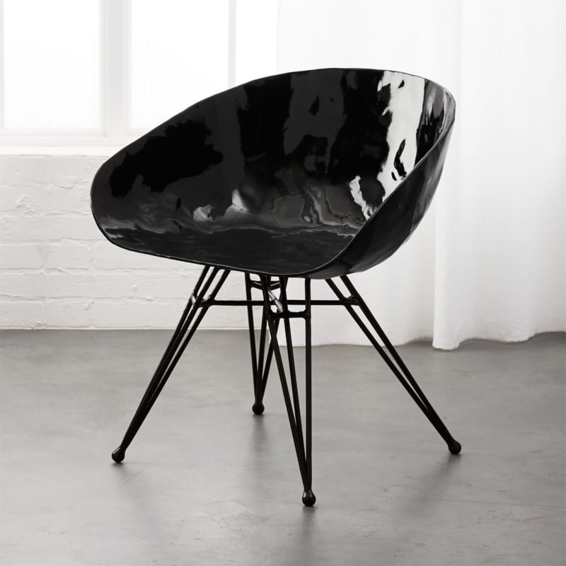 Shop Pugo Black Round Metal Chair Paying Homage To A Classic Our