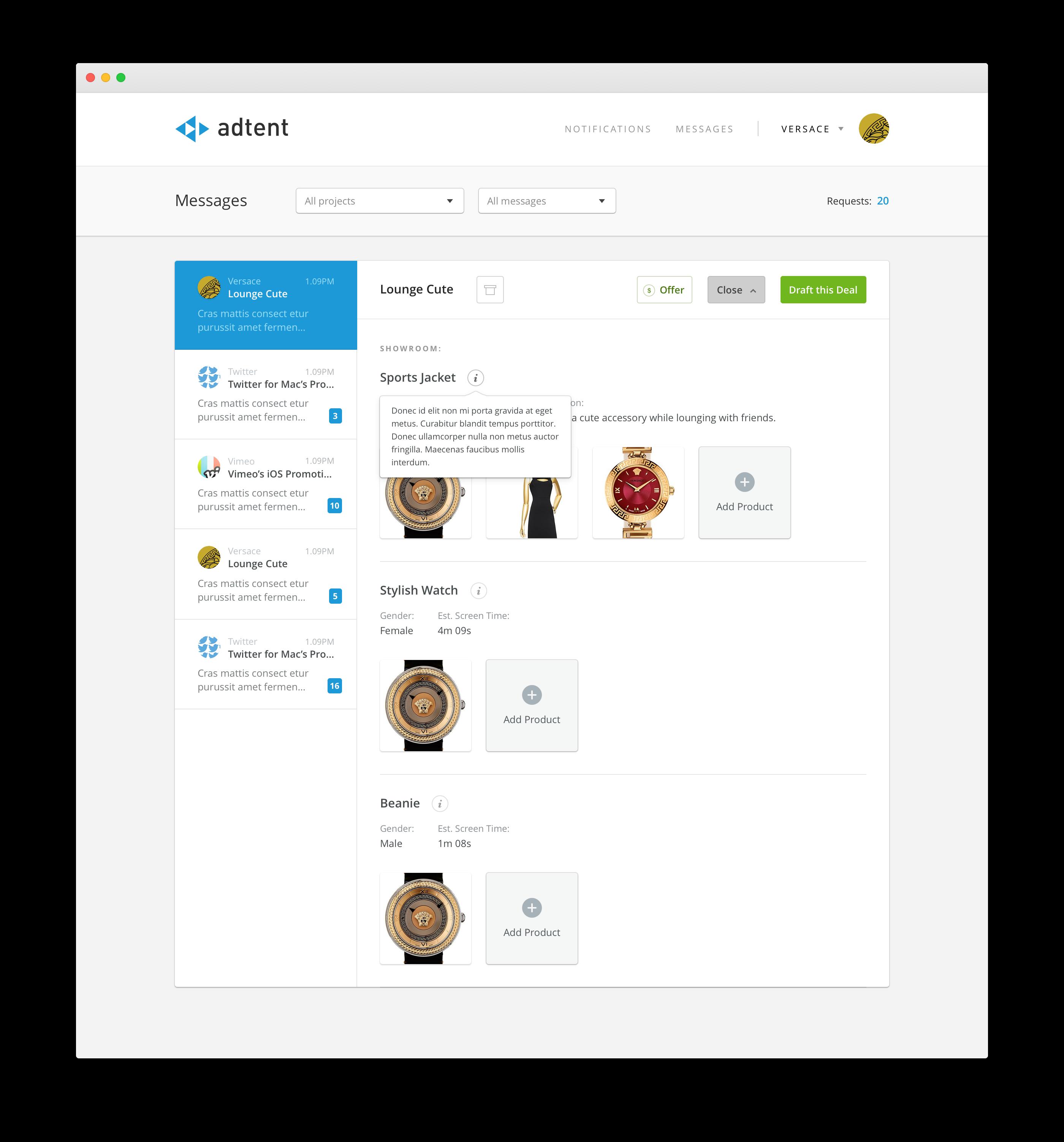 Adtent Message Board Showroom 2x Png By James Mcdonald Website Inspiration Web Design Web Software