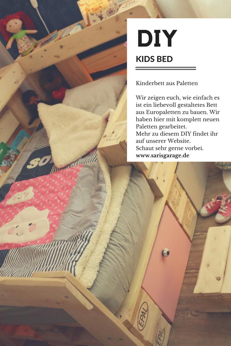 ᐅ Palettenbett für Kinder - Kinderbett aus Europaletten DIY ...