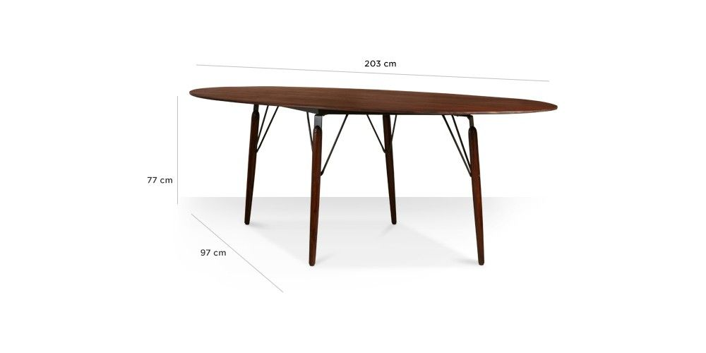 Swoon Editions Dining table, contemporary-style in rosewood- £449