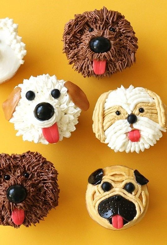 Digging Dog Cake Decoration : Dog Cupcakes for Food Network Dog cupcakes, Dog and Food