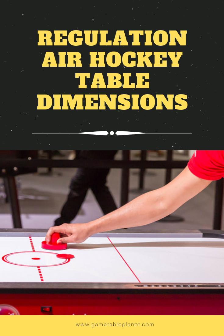 Regulation Air Hockey Table Dimensions Air Hockey Air Hockey Table Table Dimensions