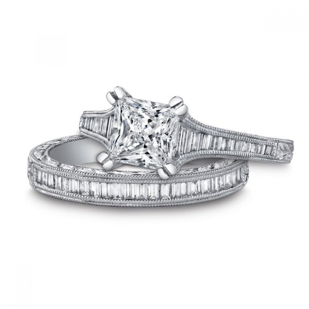 Kirk Kara Stella Collection with 0.44ctw in diamonds and hand engraving #K1151DCR