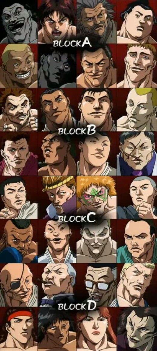 Baki the grappler Anime, Desenhos, Arte