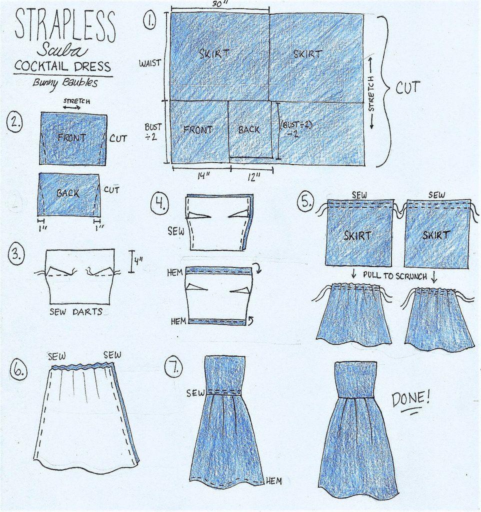 The cutest little scuba neoprene cocktail dress sewing pattern