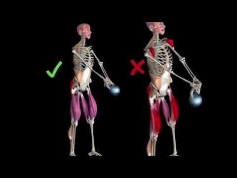 Kettlebell Swing Anatomy 3D - YouTube   Health   Pinterest